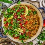 Skillet of Middle Eastern Rice and Lentils