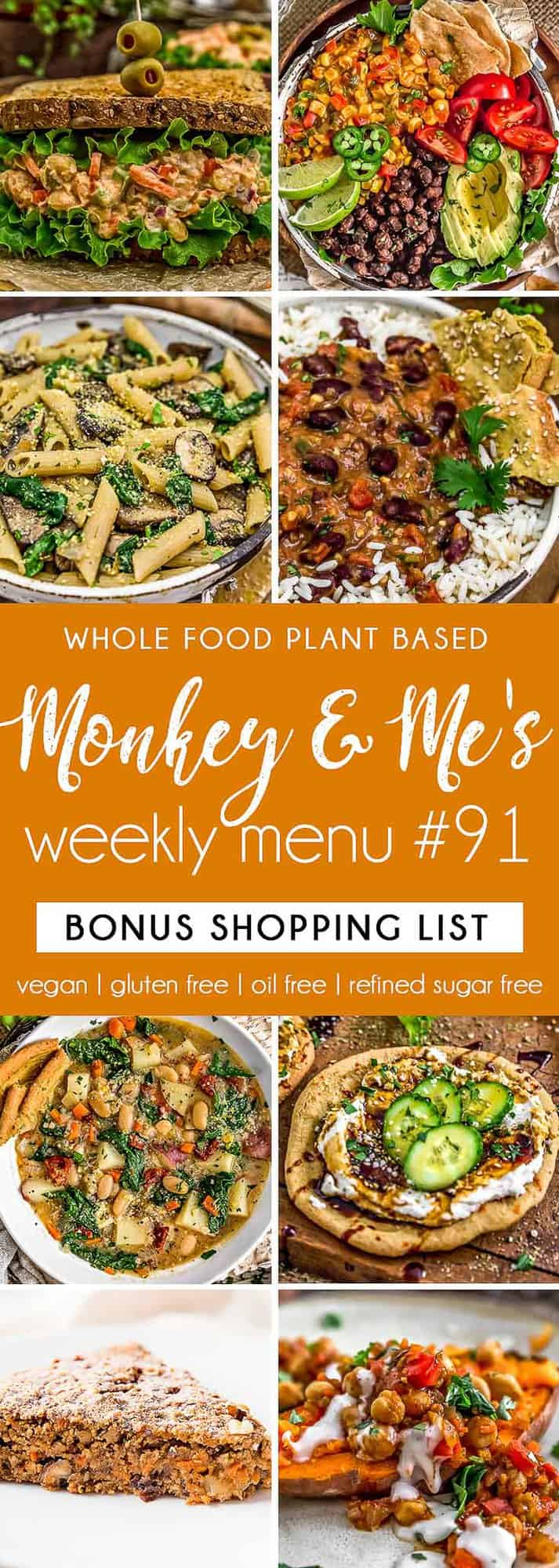 Monkey and Me's Menu 91 featuring 8 recipes
