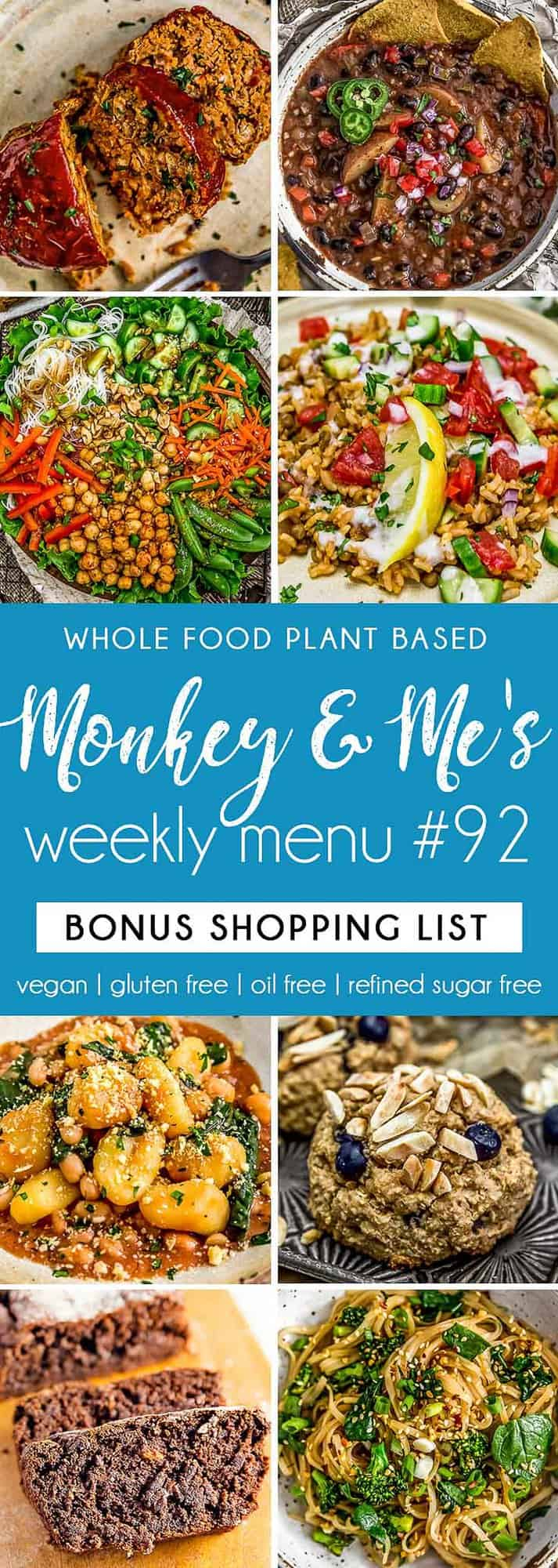 Monkey and Me's Menu 92 featuring 8 recipes