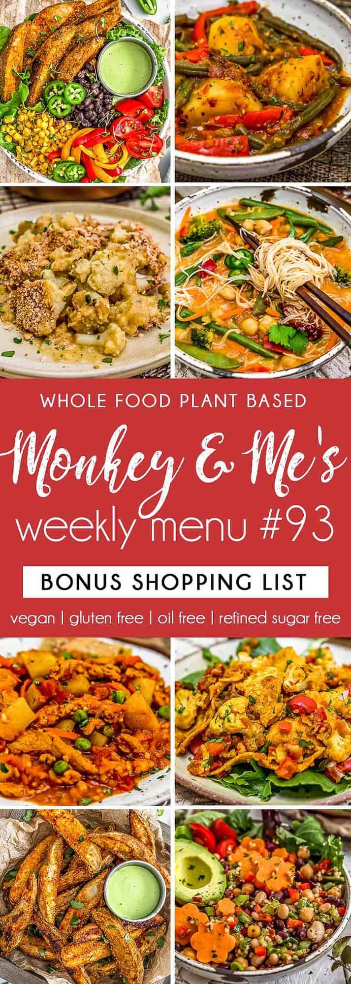 Monkey and Me's Menu 93 featuring 8 recipes