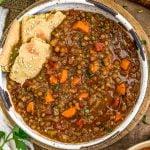 Bowl of Warming Lentil Soup