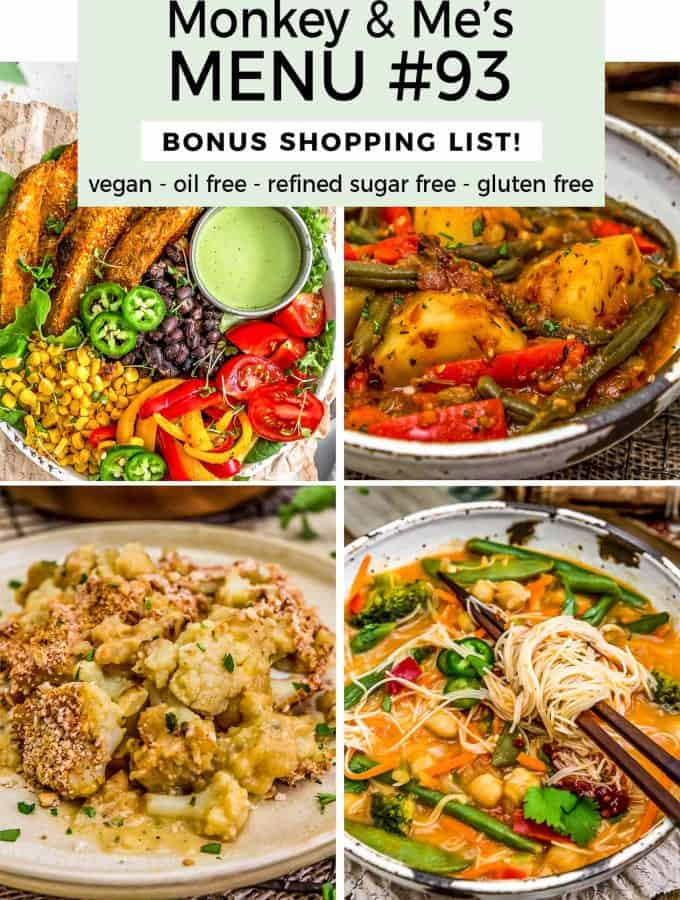 Monkey and Me's Menu 93 featuring 4 recipes