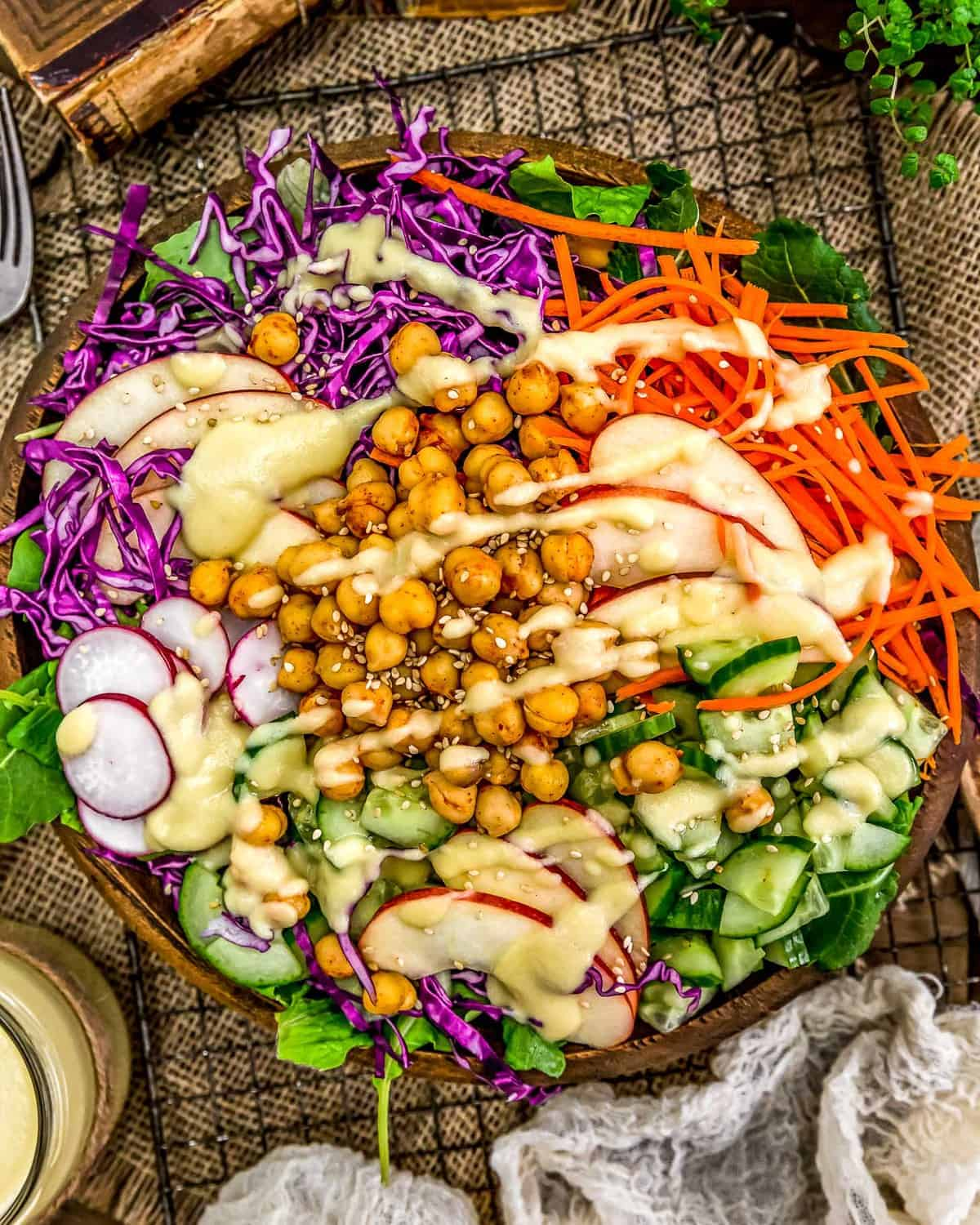 Salad with Apple Ginger Vinaigrette