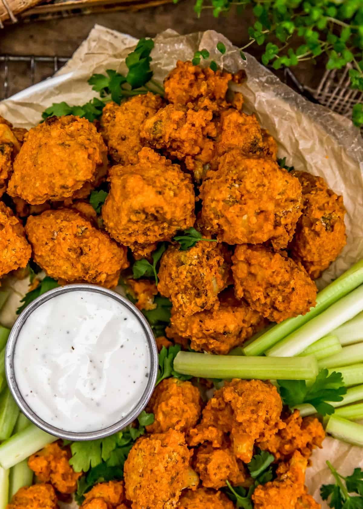 Baked Buffalo Cauliflower Wings