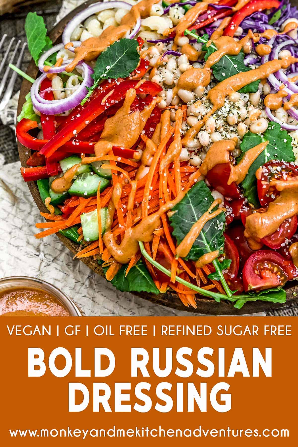 Bold Russian Dressing with text description