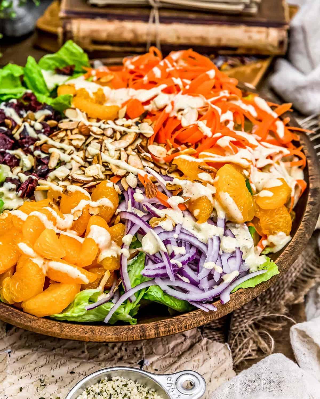 Citrus Hemp Dressing over a salad