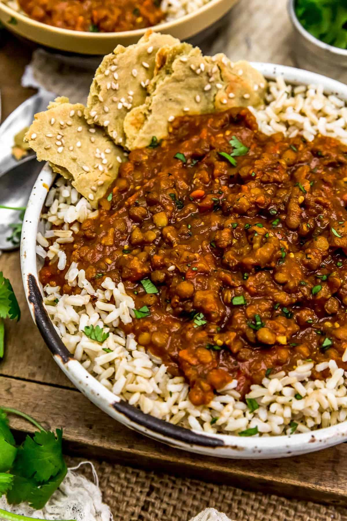 Creamy Lentil Curry in a bowl