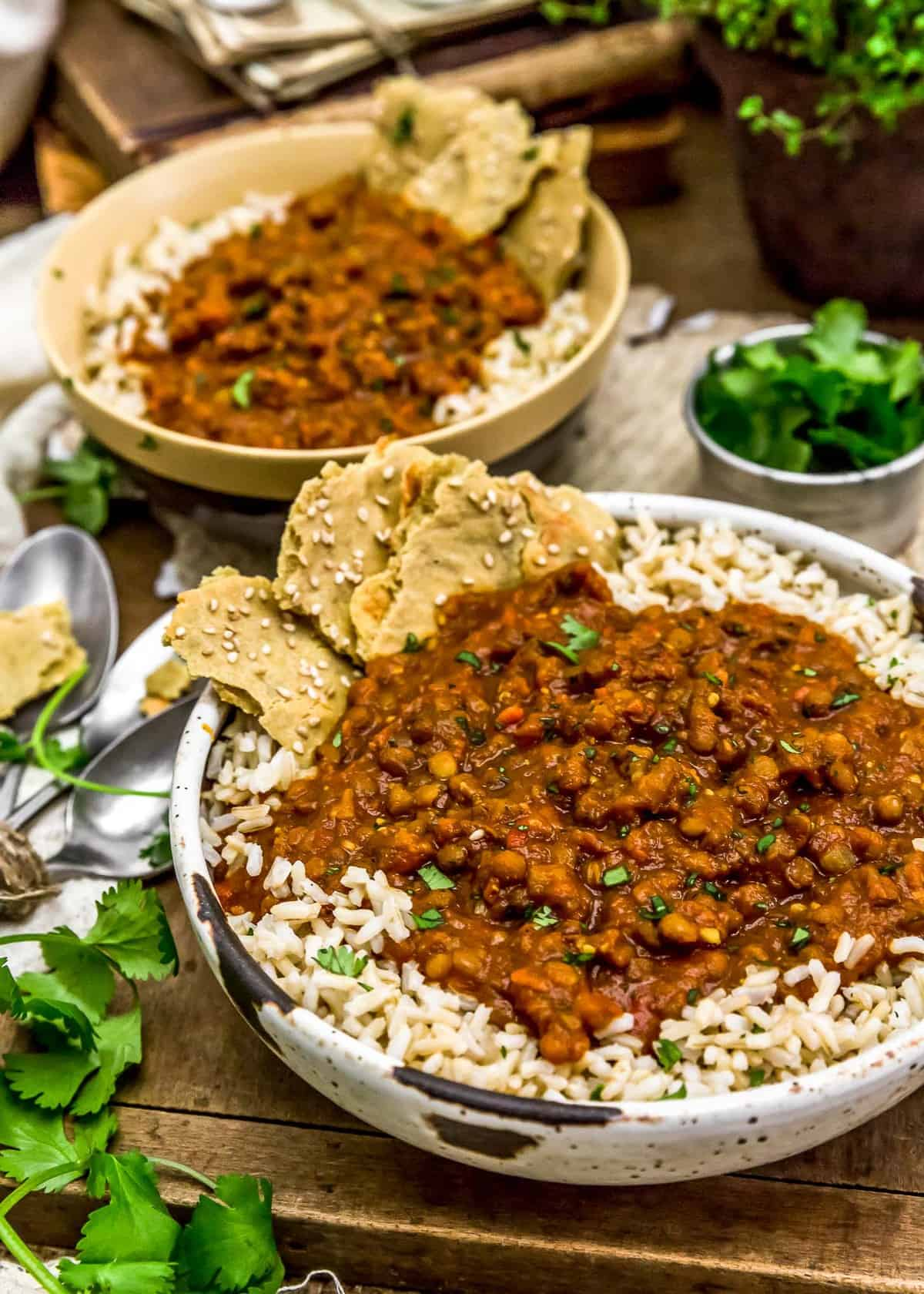 Served Creamy Lentil Curry