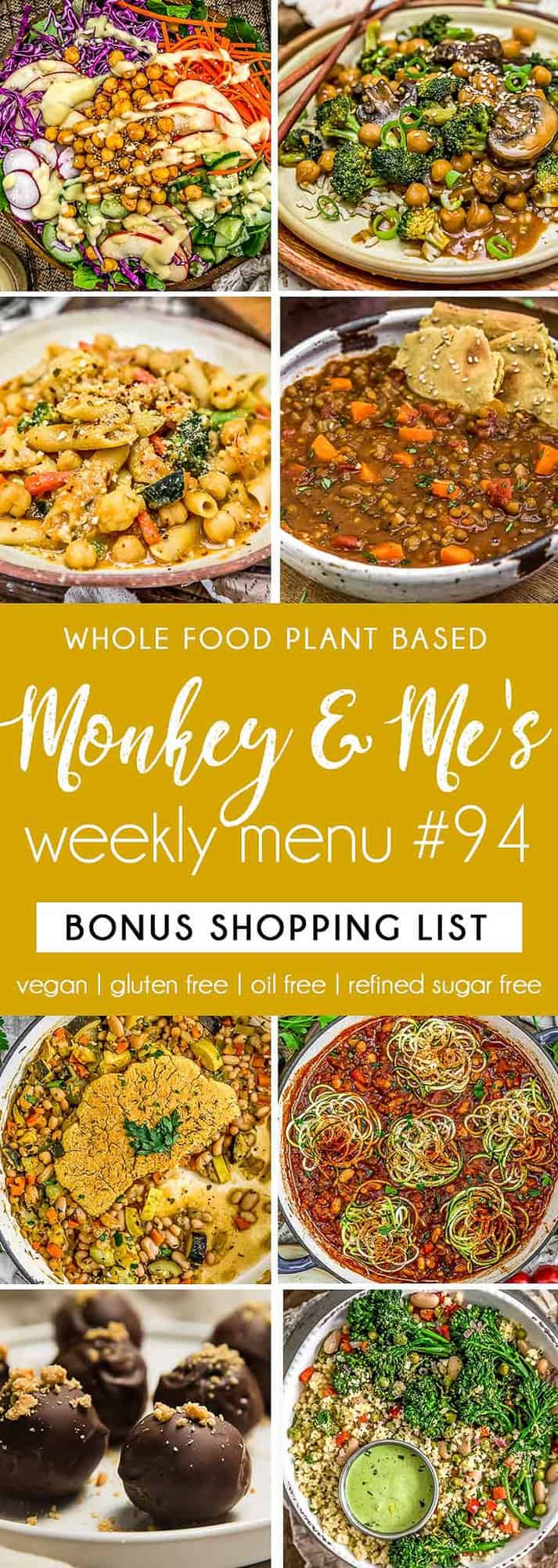 Monkey and Me's Menu 94 featuring 8 recipes