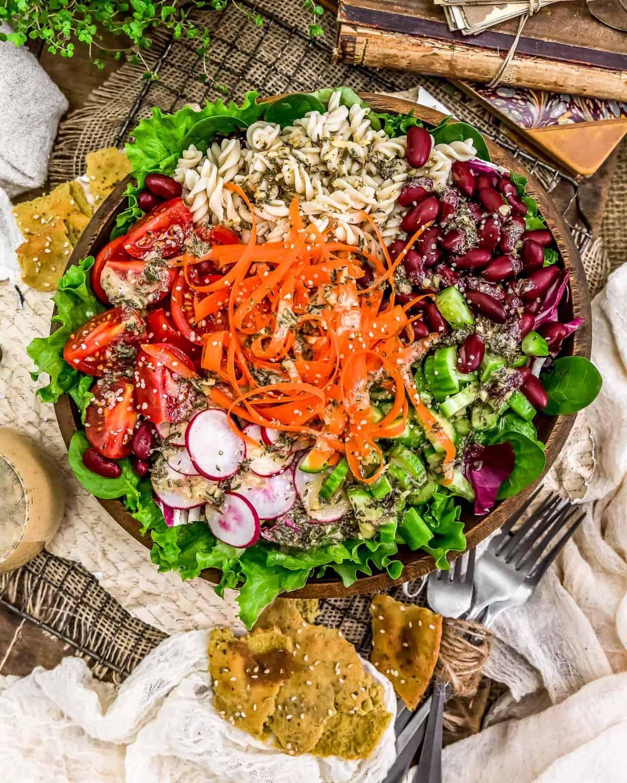 Salad with Oil Free Herb Vinaigrette