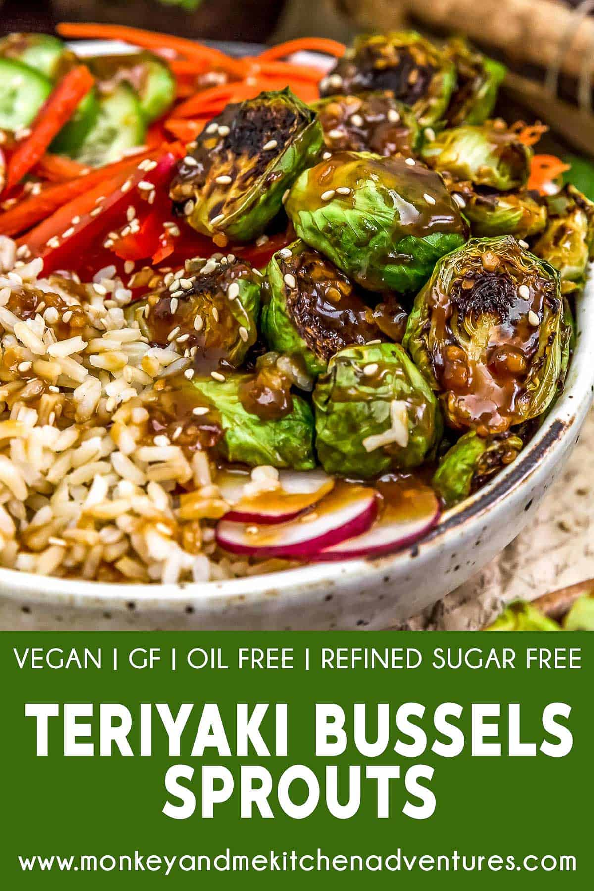 Teriyaki Brussels Sprouts with text description