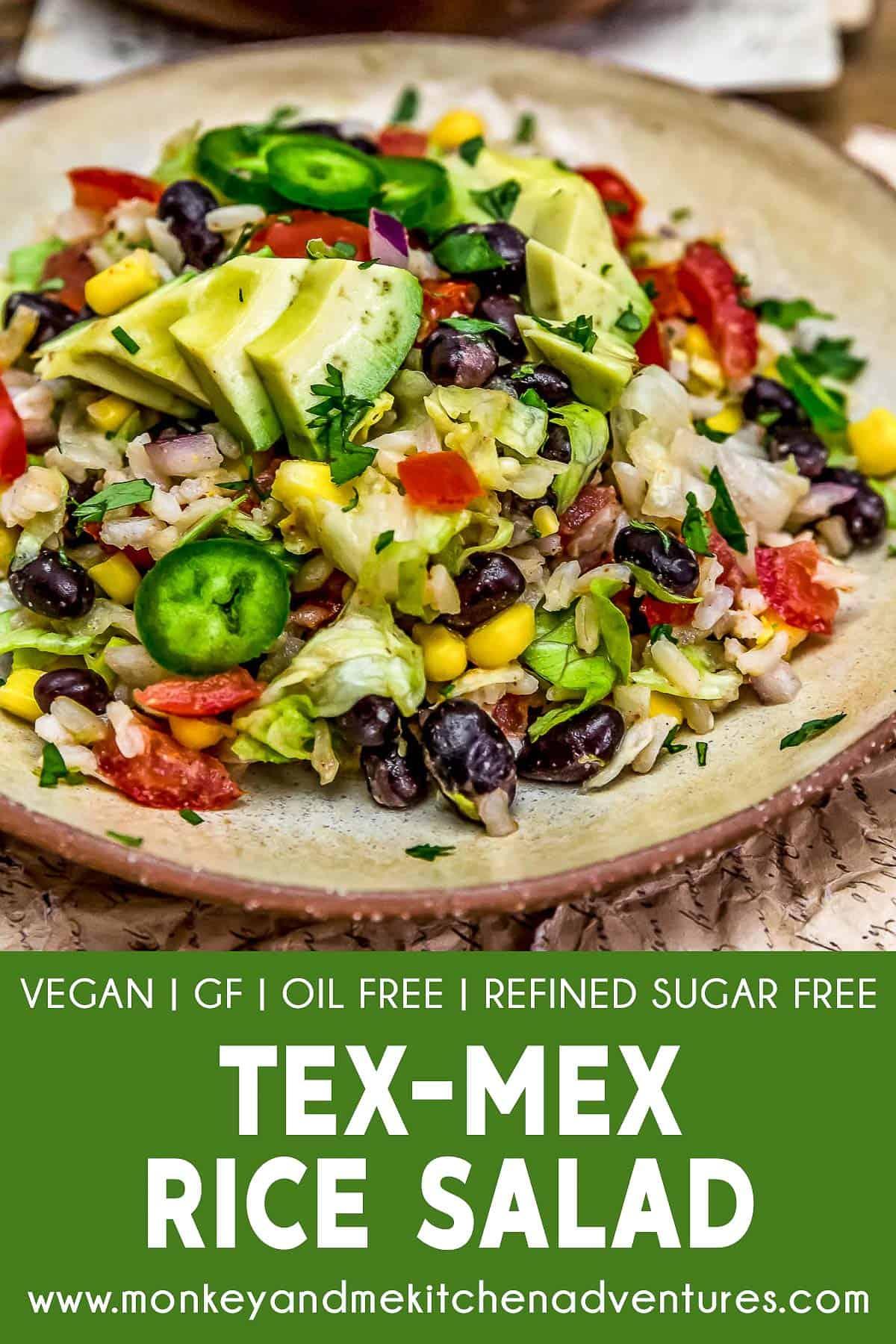 Tex-Mex Rice Salad with Text Description