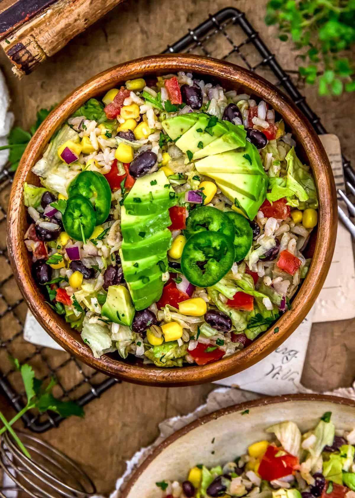 Bowl of Tex-Mex Rice Salad