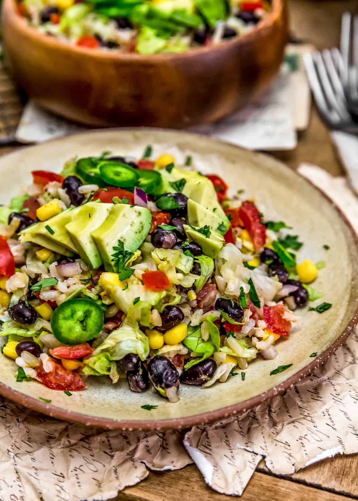 Plated Tex-Mex Rice Salad