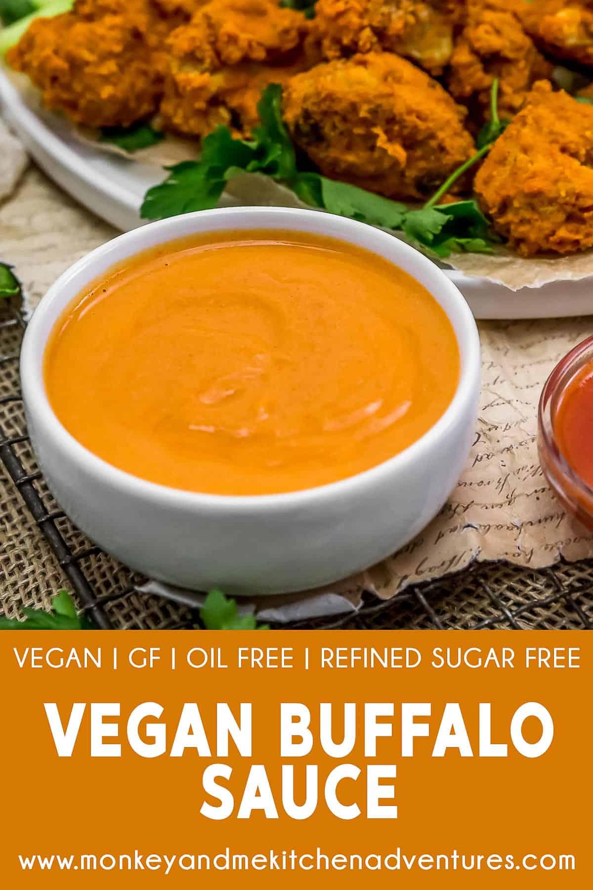 Vegan Buffalo Sauce with text description