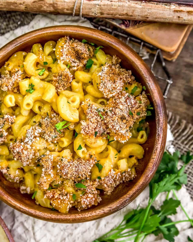 Bowl of Vegan Cauliflower Mac and Cheese