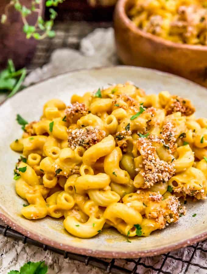Vegan Cauliflower Mac and Cheese