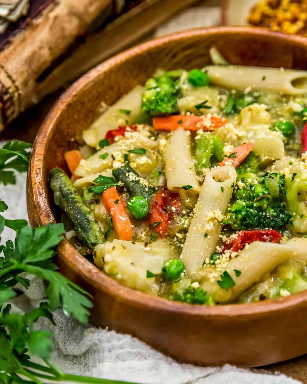 Close up of Pasta Primavera