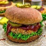 "Vegan BBQ ""Chicken"" Patty Sandwich"