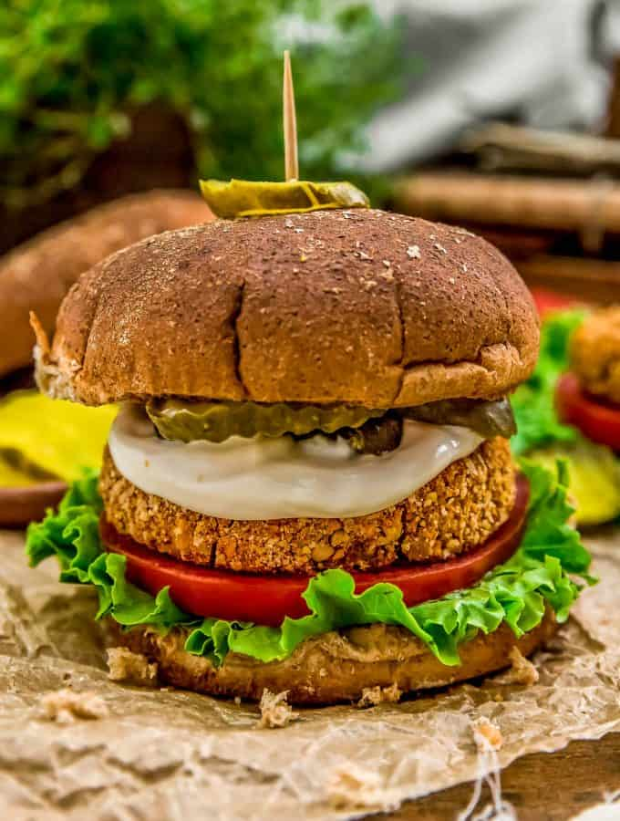 "Vegan Spicy ""Chicken"" Patty Sandwich"