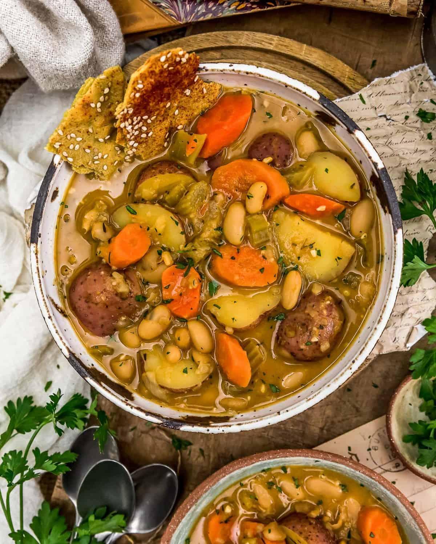 Bowl of French Thyme White Bean Potato Stew