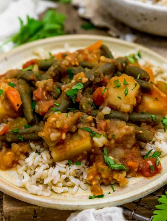 Lebanese Stewed Green Beans and Potatoes