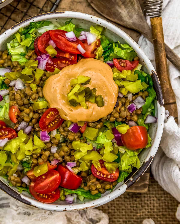 Vegan Big Mac Salad