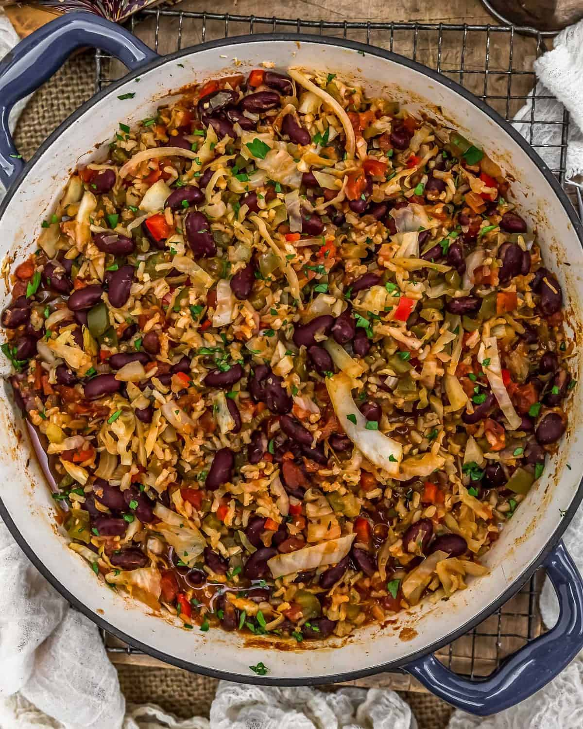 Cajun Cabbage and Rice Skillet