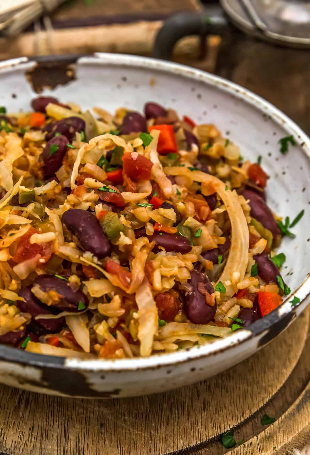 Cajun Cabbage and Rice