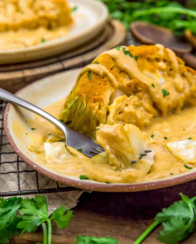eating Vegan Southwestern Scalloped Cabbage