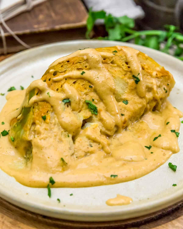 Vegan Southwestern Scalloped Cabbage