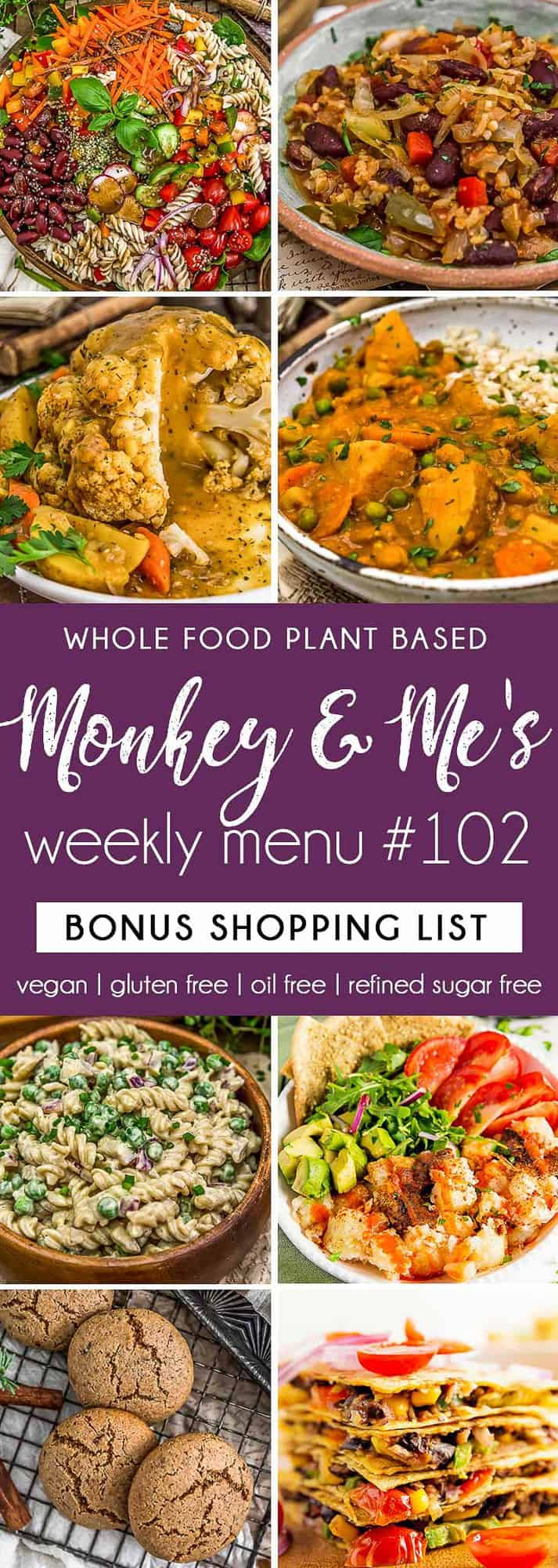 Monkey and Me's Menu 102 featuring 8 recipes