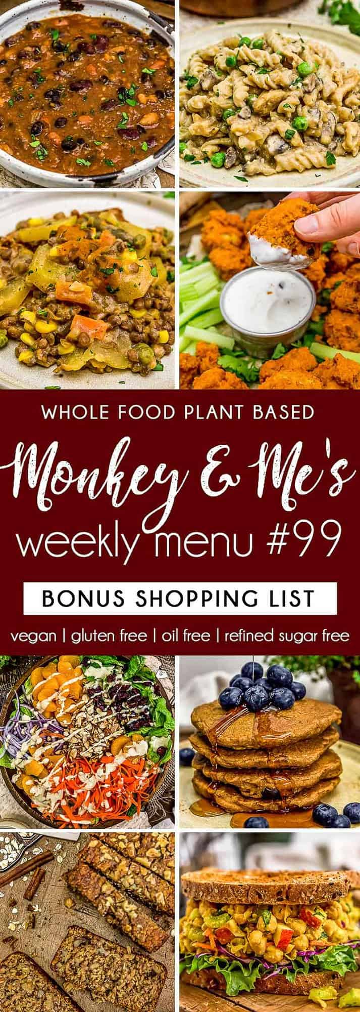 Monkey and Me's Menu 99 featuring 8 recipes