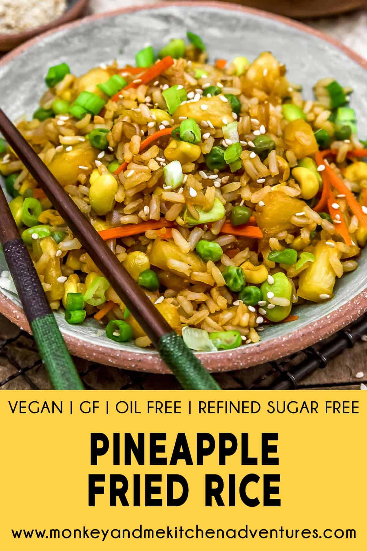 Pineapple Fried Rice with Text Description