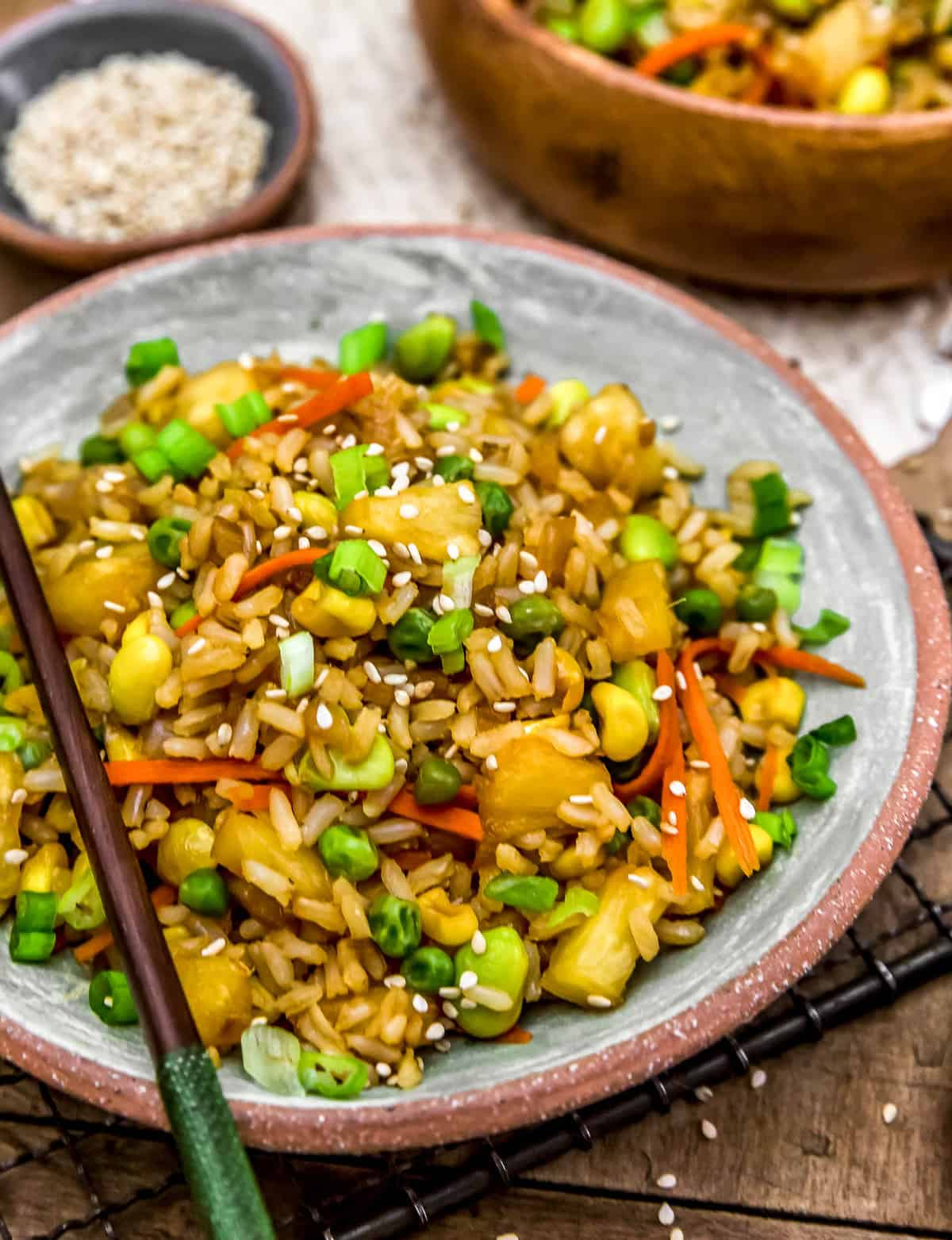 Close up of Pineapple Fried Rice