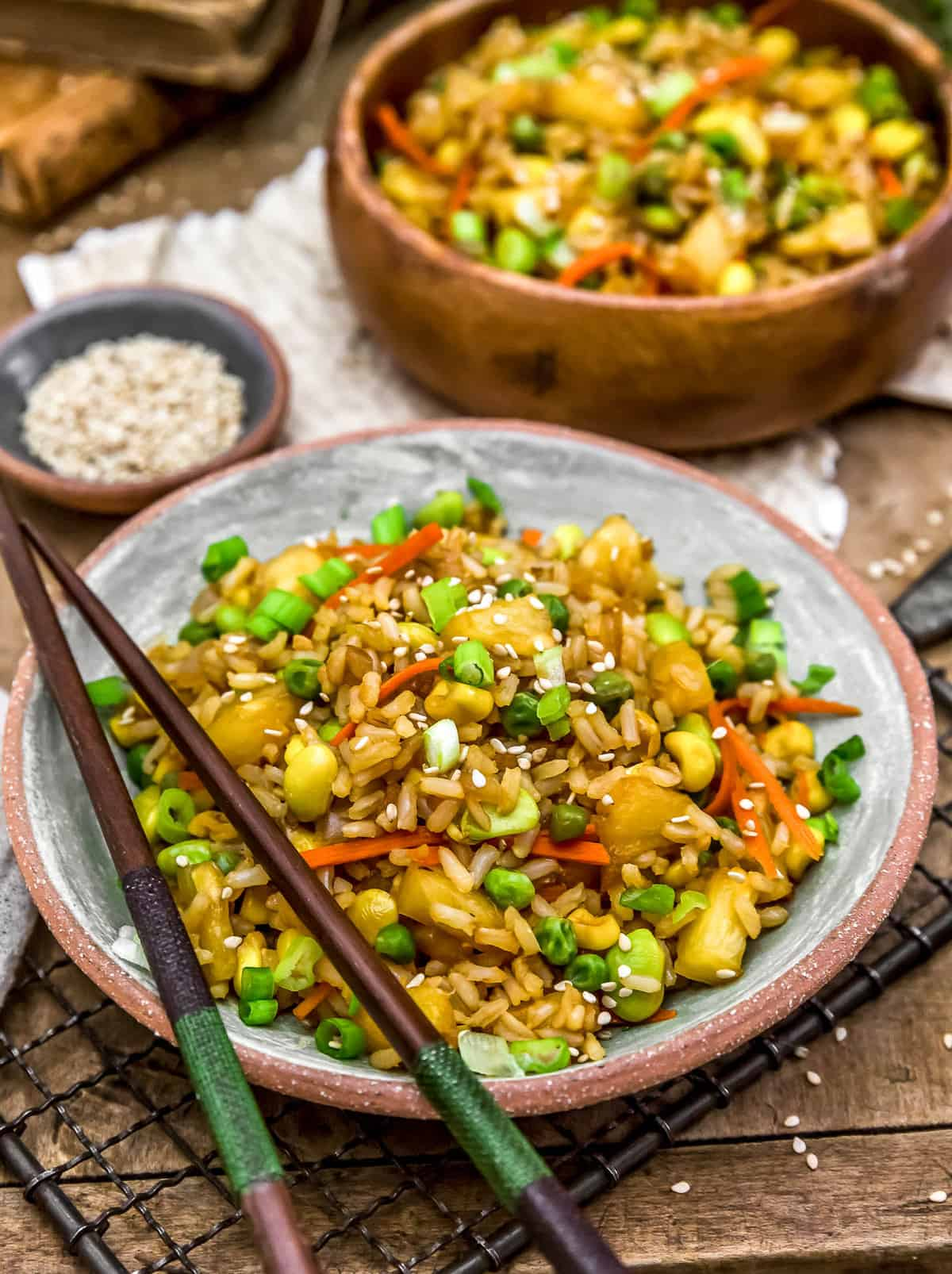 Pineapple Fried Rice Served