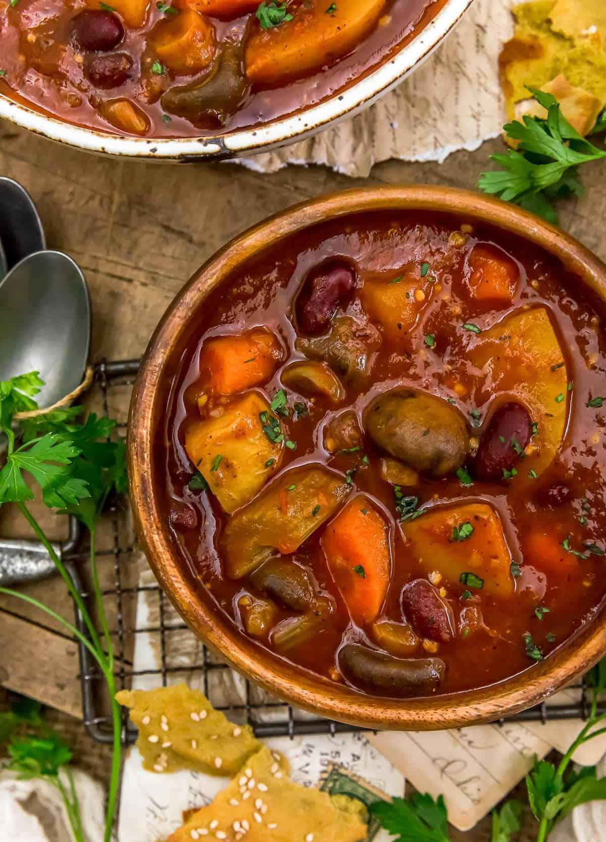Bowl of Rustic Braised Vegetable Stew