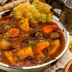 Served Rustic Braised Vegetable Stew