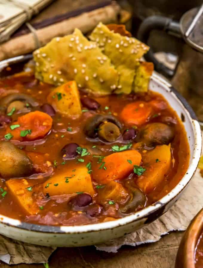 Served Rustic Braised Vegetable Stew