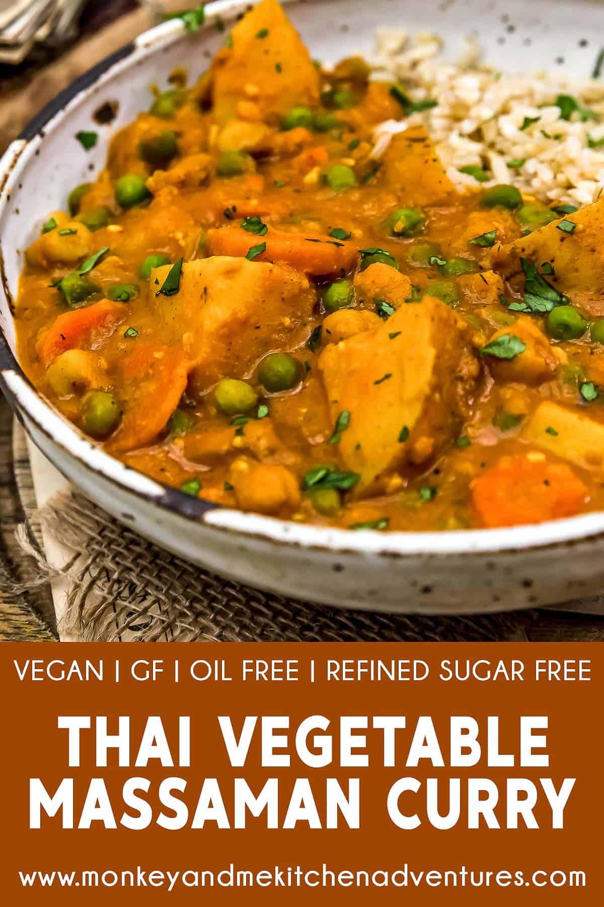 Thai Vegetable Massaman Curry with text description