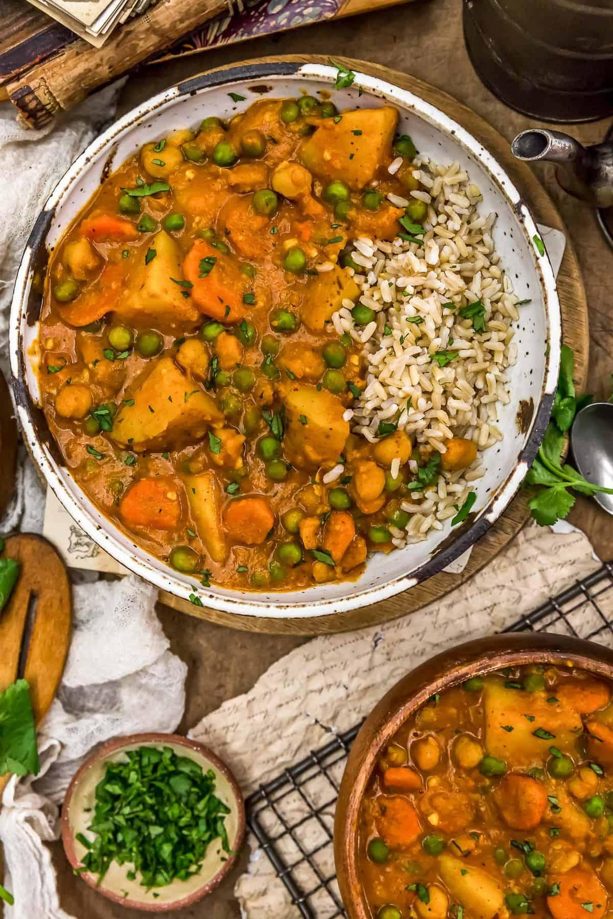 Bowl of Thai Vegetable Massaman Curry