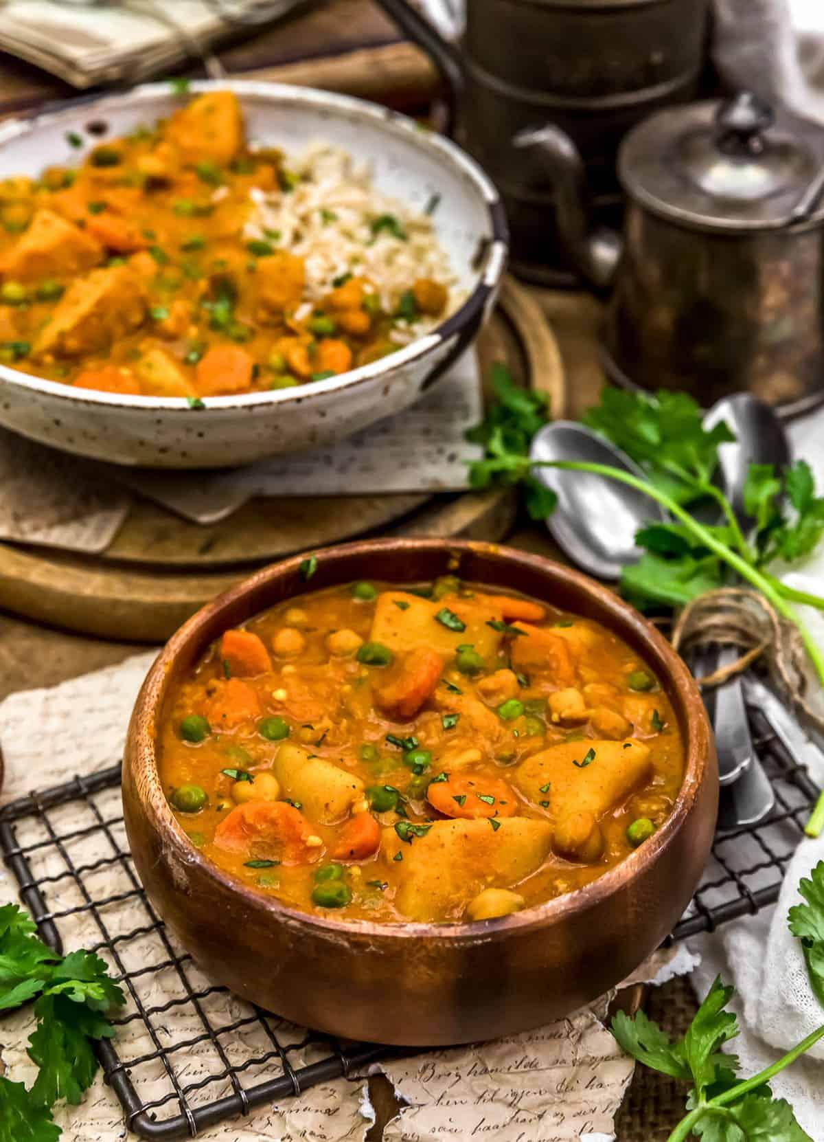 Served Thai Vegetable Massaman Curry