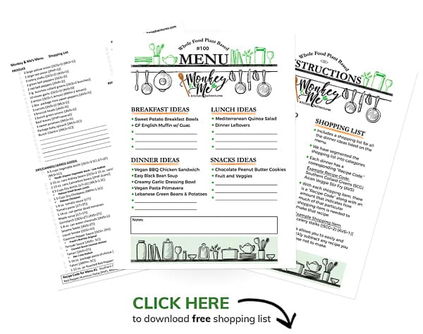 Monkey and Me's Menu 100 PDF Display