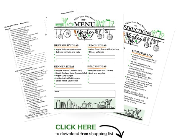 Monkey and Me's Menu 101 PDF Display