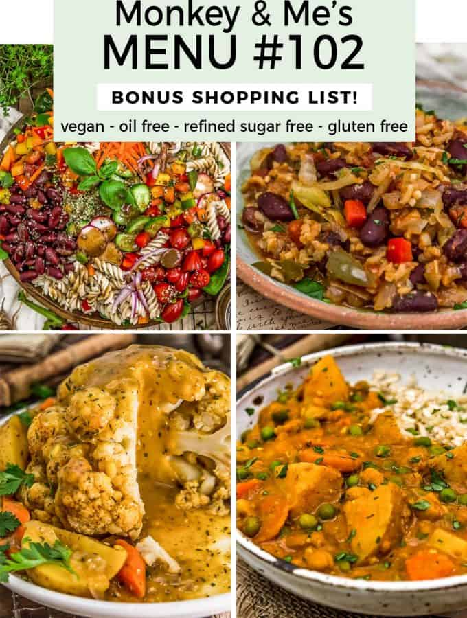 Monkey and Me's Menu 102 featuring 4 recipes