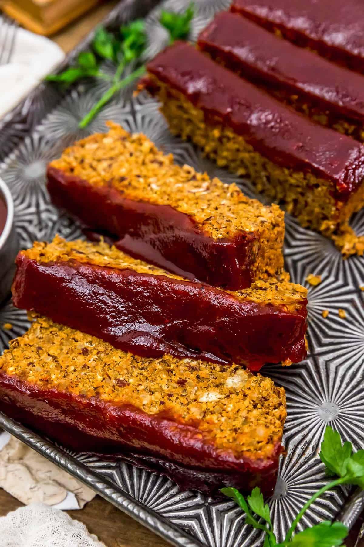 BBQ Veggie Loaf Slices