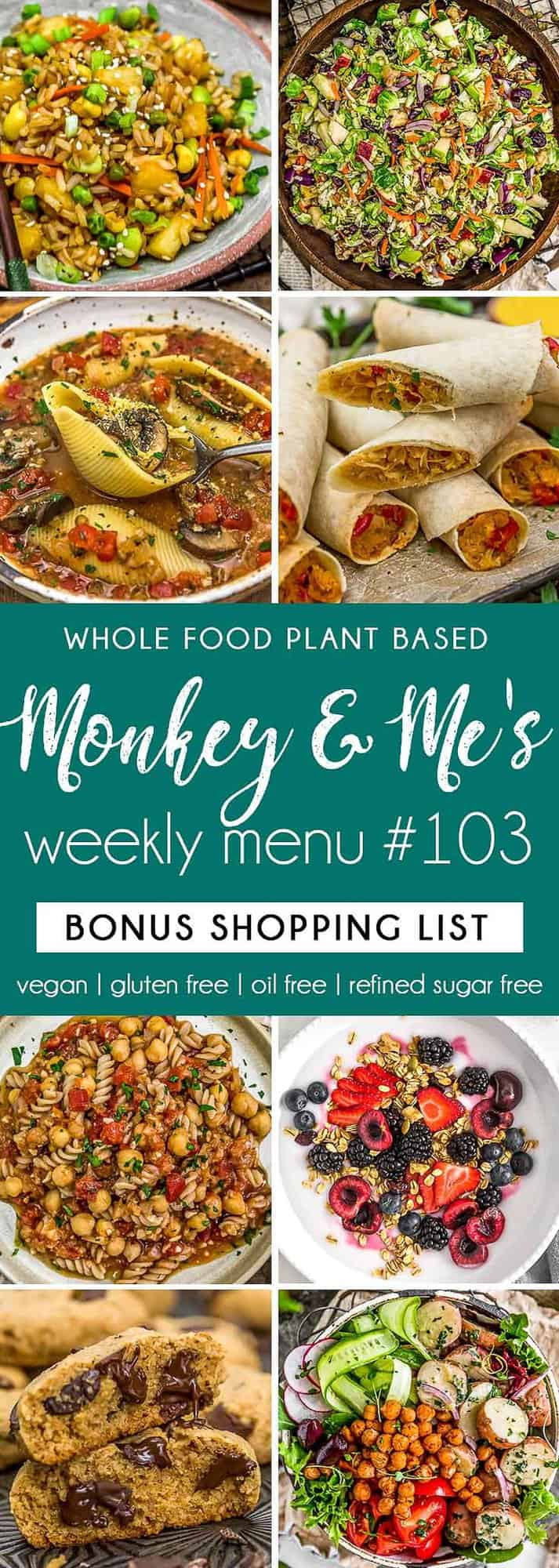 Monkey and Me's Menu 103 featuring 8 recipes