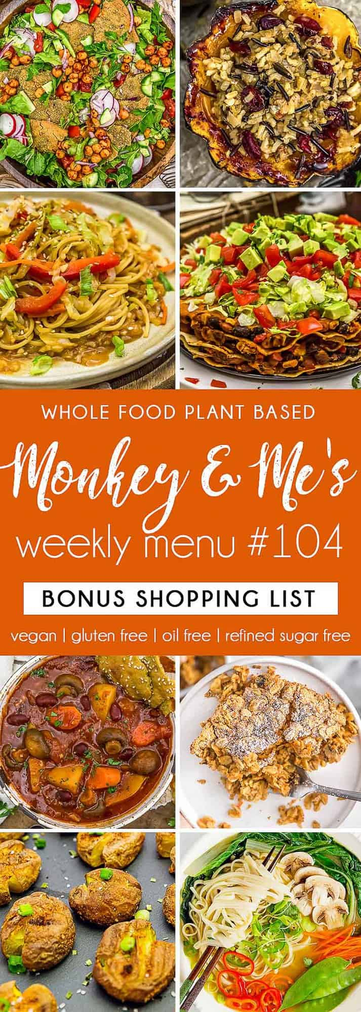Monkey and Me's Menu 104 featuring 8 recipes