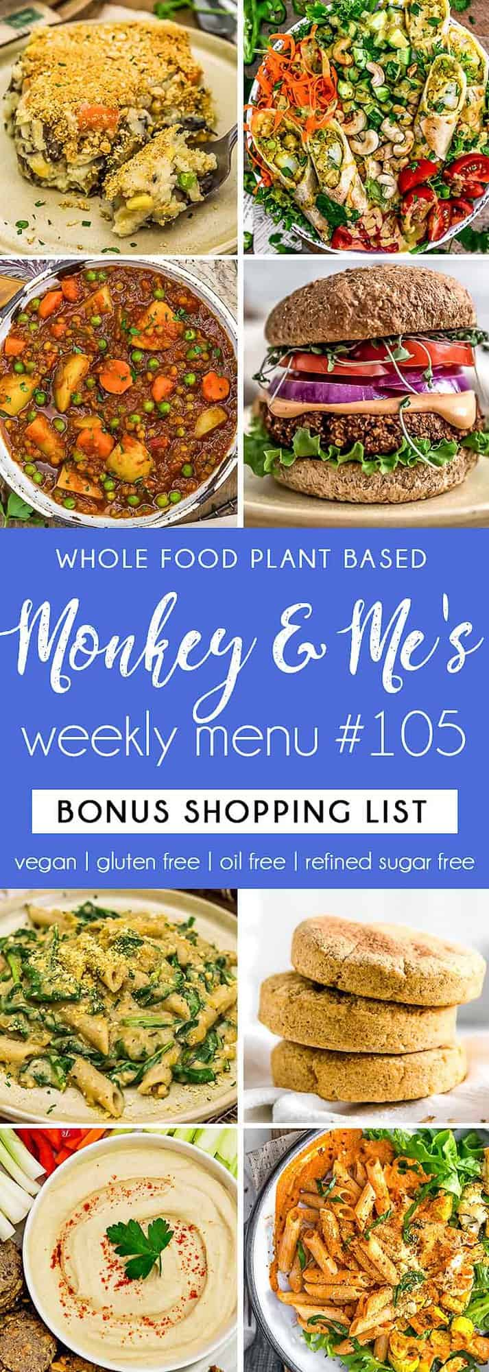 Monkey and Me's Menu 105 featuring 8 recipes
