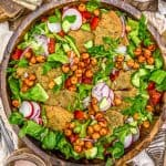 Bowl of Oil Free Lebanese Fattoush